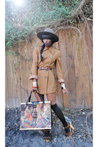 bronze vintage coat