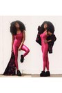 Pink-lycra-boohoo-bodysuit