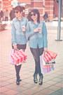 Black-topshop-tights-black-boulevard-skirt-blue-jeans-fes-blouse