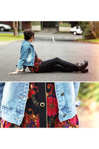 blouse - boots - jacket - leggings
