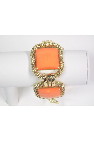 orange coral goldtone My Alexas Store bracelet
