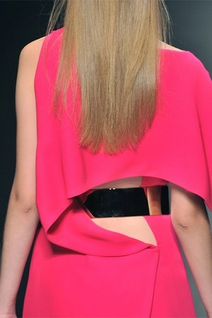 hot pink gianfranco ferre dress - gold belt