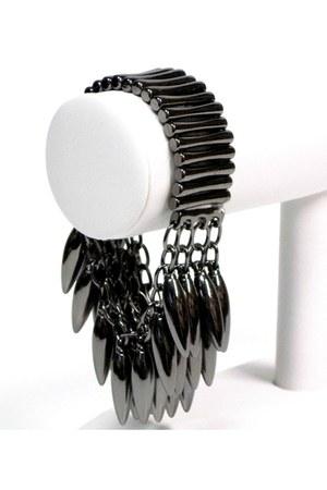 black gunmetal spike My Alexas Store bracelet