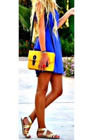 bag - dress - sandals