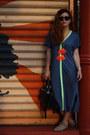 Blue-jersey-label-of-graded-goods-dress-black-dkny-bag