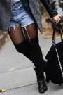 Black-h-m-coat-white-brooklyn-flea-market-shirt-black-zara-bag