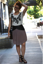 black Steven by Steve Madden shoes - off white Target shirt