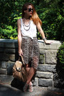 B-makowski-bag-urban-outfitters-sandals-forever-21-skirt-express-top