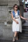 Light-brown-highlander-nine-west-shoes-ivory-love-me-dress
