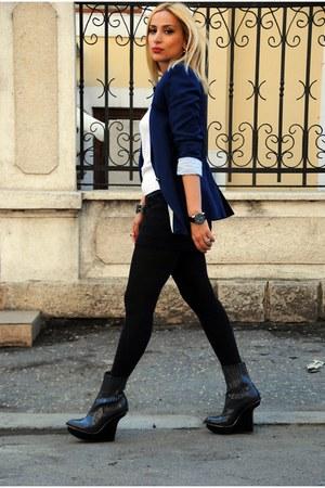 Zara blazer - Stella McCartney boots - H&M blouse