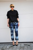 Mango jeans - Topshop shirt - Zara heels