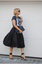 H&M skirt - Topshop t-shirt - Mango heels