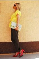 French Connection blouse - Zara pants - Zara heels