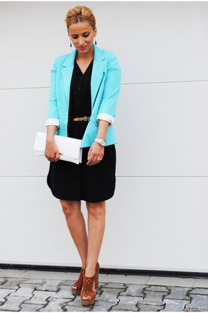 H&amp;M dress - BLANCO blazer - H&amp;M sandals