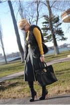 River Island pants - Christian Louboutin boots - Michael Kors bag - H&M vest