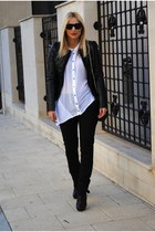 asos boots - Sfera jacket - H&M pants