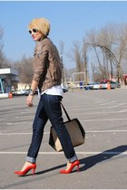 Zara heels - H&M jeans - BLANCO jacket