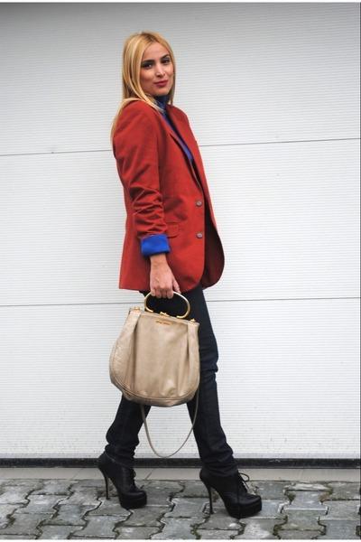 Zara blazer - Miss Kg boots - Miu Miu bag