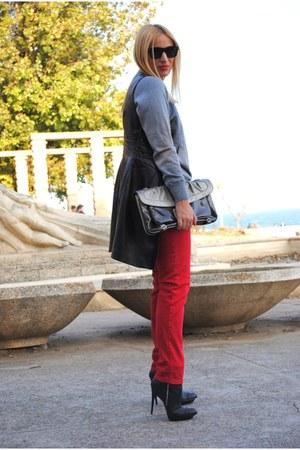 Guess bag - asos boots - Zara jeans - Sfera vest