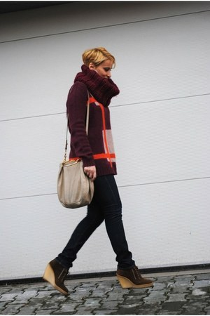 COS sweater - Zara boots - Miu Miu bag