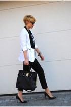 ipekyol blazer - Michael Kors bag - Zara heels