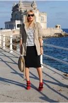 Bershka boots - Mango jacket - Zara skirt
