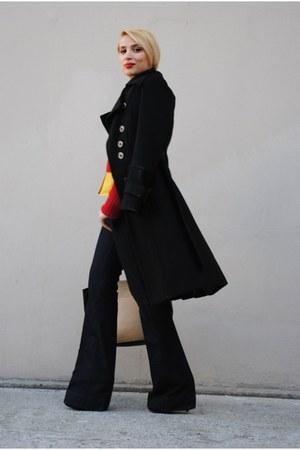 Promod coat - Zara jeans