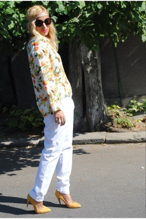 Zara blouse - Sfera pants - Zara heels
