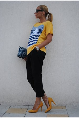 Zara heels - Mango blouse - COS pants