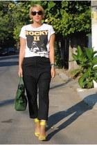 H&M heels - COS pants - pull&bear t-shirt