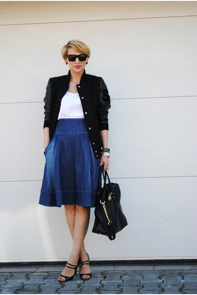 Twist skirt - Michael Kors bag - Miu Miu heels