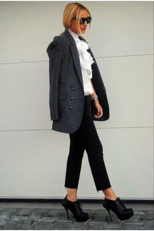pull&bear blazer - Miss Kg shoes - Bebe blouse