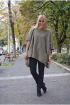 Zara sweater - Topshop boots - Miu Miu bag
