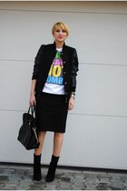 H&M skirt - giuseppe zanotii boots - Michael Kors bag