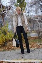 Zara jeans - romwe bag - Zara vest