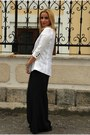 White-ipekyol-blazer-white-nissa-bag-black-zara-pants-black-h-m-flats-bl