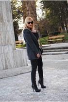 asos boots - pull&bear blazer - H&M pants
