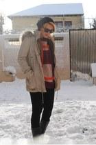 Zara boots - Mango coat - COS sweater