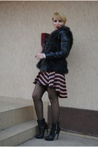 Topshop skirt - asos boots - Sfera jacket - H&M vest