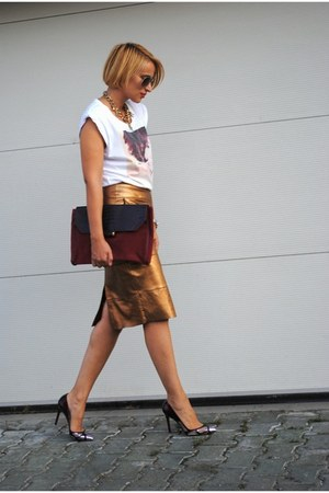 River Island skirt - D&amp;G t-shirt - Christian Louboutin heels
