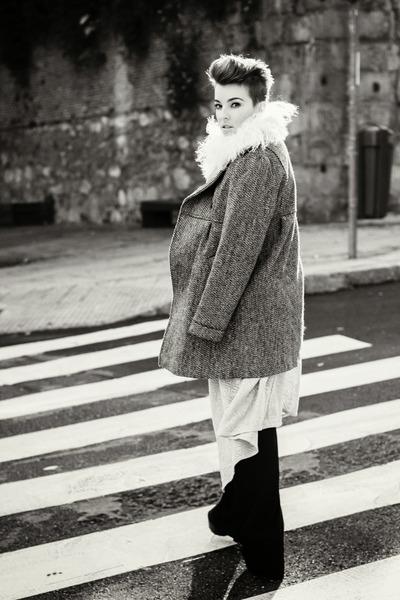 maxicardigan BLANCO cardigan - coat winter Stradivarius coat