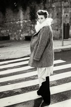 maxicardigan BLANCO cardigan - coat winter Stradivarius coat