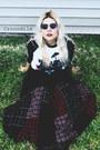 Black-dr-martens-shoes-white-t-shirt-black-velvet-st-johns-bay-skirt