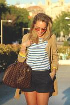 Louis Vuitton bag - Ebay coat - Mango shorts - ray-ban sunglasses
