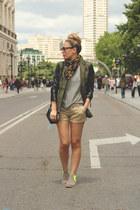 Neon Boots boots - Fashion Pills blazer - Ebay scarf - dior sunglasses