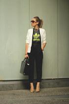Zara bag - Sheinside blazer - Zara pants - Pilar Burgos heels