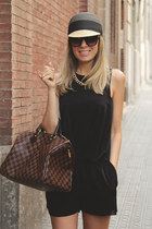 Zara jumper - Parfois hat - speedy 35 Louis Vuitton bag - Chanel flats