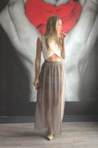 Forever 21 skirt - Zara top - Pilar Burgos heels
