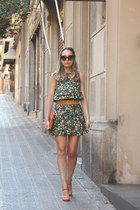 Zara dress - Zara bag - dior sunglasses - Zara sandals