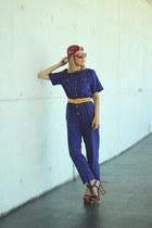 Ebay jumper - H&M scarf - Ebay belt - Jessica Simpson heels